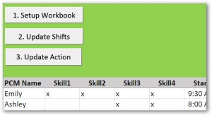 Setting up the Workbook