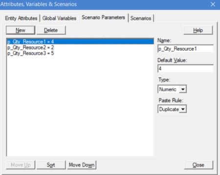 Scenario Parameters