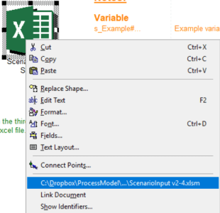 opening the create an interface excel file