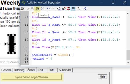 paste action logic in processmodel