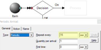 seetting arrivals in Heartbeat during specified hours