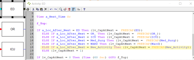 updating action logic on activities