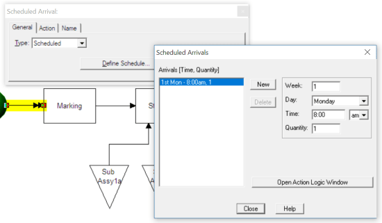 create scheduled arrival scheduled arrivals with table input