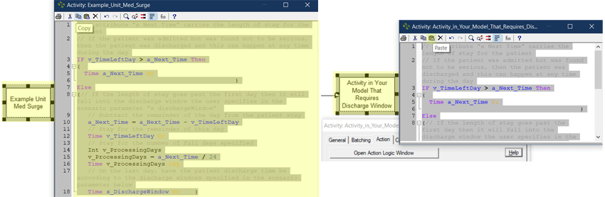 copy logic in Discharge Windows