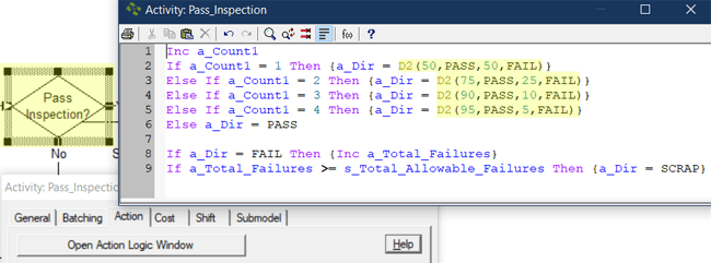 update action logic in pass inspection with scrap