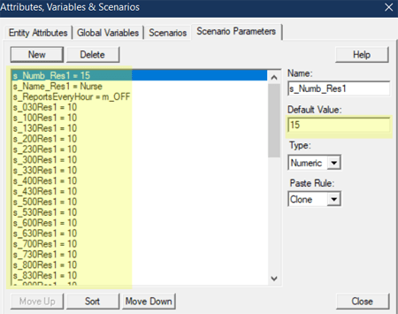 define scenarios for Single Resource Optimizer