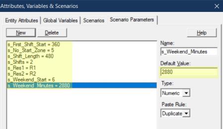 define scenario values in Release Entity to Next Shift
