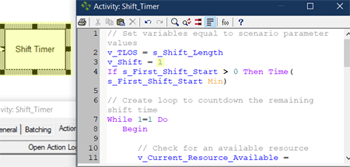 define shift timer action in Release Entity to Next Shift