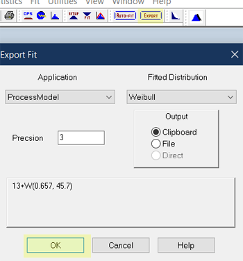 export distribution in Remaining Length of Stay Estimator