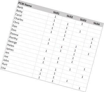 Skills Matrix Optimizer graph 1
