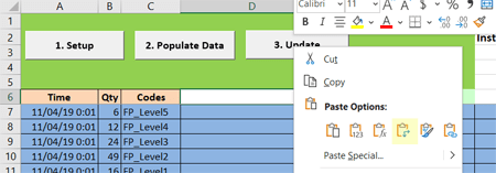 paste attribute scheduled arrivals with table input new1