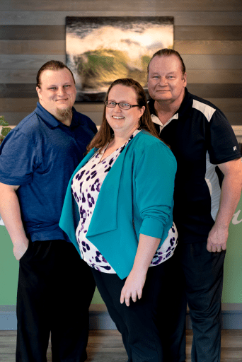 The PRC Team - Adam, Sara & Doug