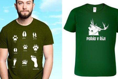 Originální myslivecká trička. Skvělý dárek nejen k narozeninám