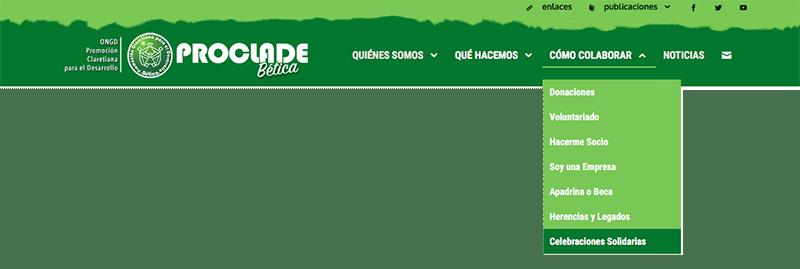 web menu