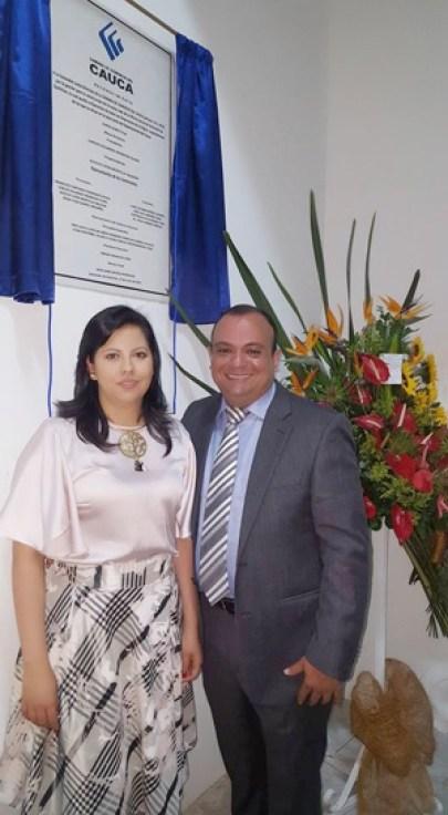 Oriana Mendoza y Carlos Mendoza - Cámara de Comercio del Cauca