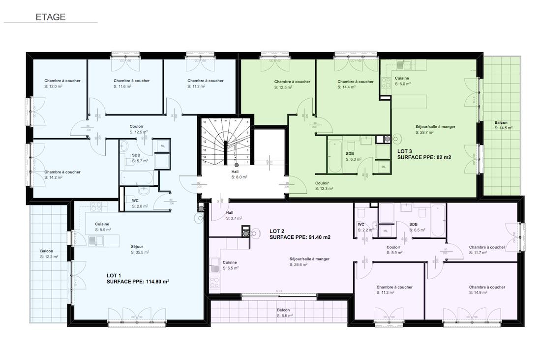 Immeuble De 6 Appartements Sur Plans