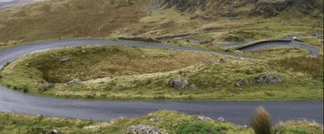 Stwlan Dam Hairpins cycling climbs in North Wales