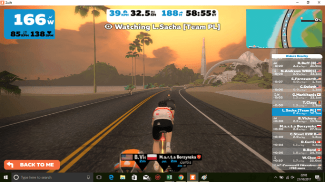 Zwift 2 keyboard shortcut