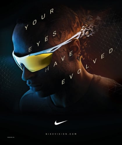 "NIKE VISION SPRING 2016 RUNNING COLLECTION USES INNOVATIVE DESIGN AND TECHNOLOGY.New Collection Launches ""Your Eyes Have Evolved"" Campaign. (Photo: Nike Vision)"