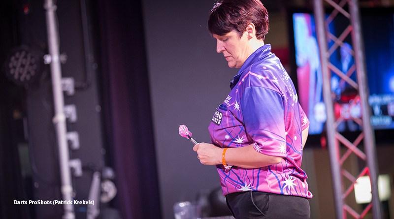 Mannen krijgen Lisa Ashton pas in kwartfinale van de PDC Unicorn Challenge Tour 15 eruit.