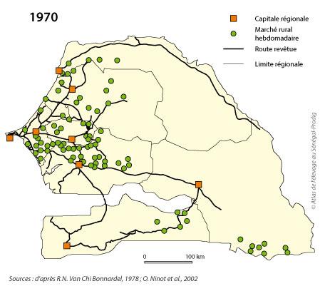 Sénégal-Le commerce de bétail sur pied-Le développmement des marchés hebdomadaires-Les loumos en 1970