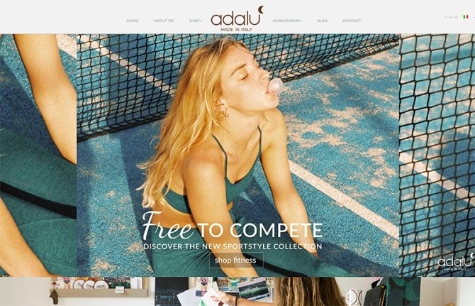 Adalu restyling sito web