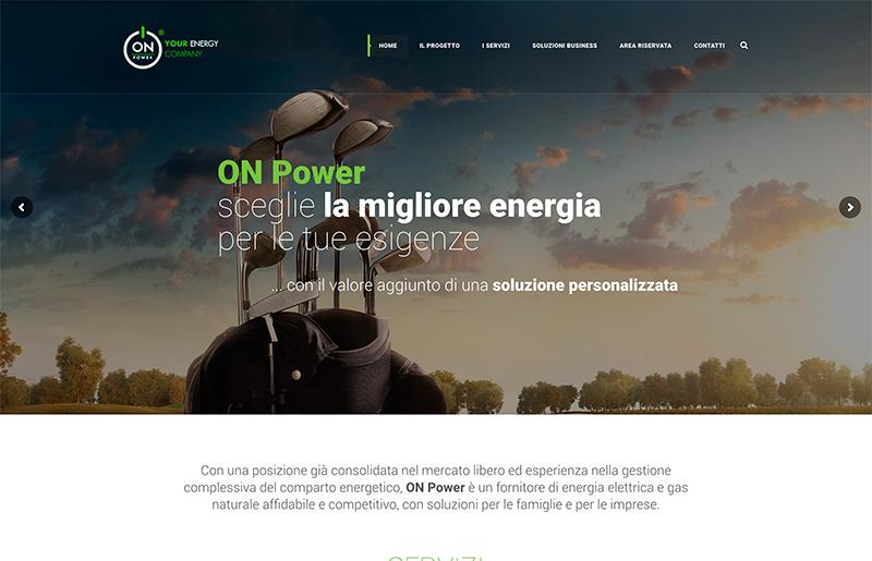 Sito web società fornitrice di Energia e Gas
