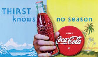 Coca cola affiche 1935
