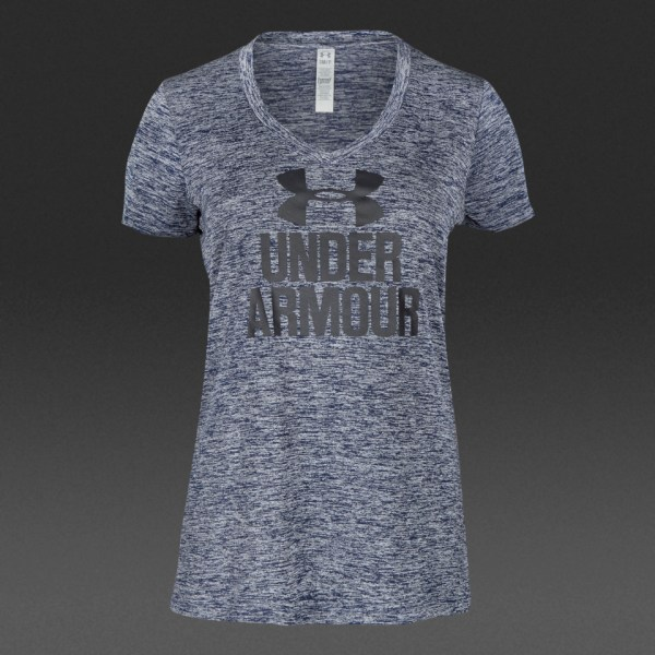 Under Armour Womens Branded Twist Tech V-Neck - Womens ...