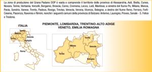 zona di produzione del Grana Padano - fonte mipaaf