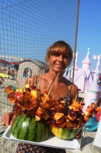 frutta in spiaggia