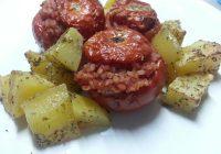 Ricette romane: pomodori con riso e patate