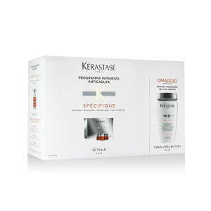Kérastase Spécifique Kit Anticaduta 30 Fiale Aminexil Force R 6ml + Shampoo Bain Prevention 250ml - Trattamento e Shampoo anticaduta - Spedizione gratuita