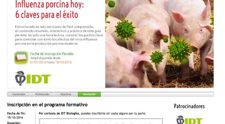 IDT comprometida con la difusión del conocimiento sobre Influenza porcina