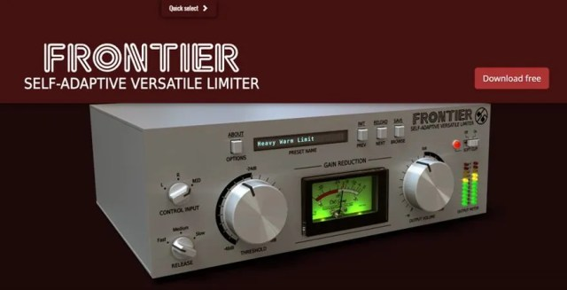 Frontier - Free VST Limiter Plugin