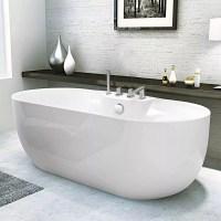 Badewanne freistehend mit glänzend Effekt und Elegantem ...