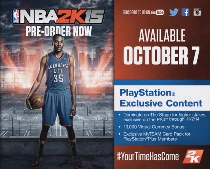 NBA 2K15 New Legends And PS4 XB1 Gameplay Product