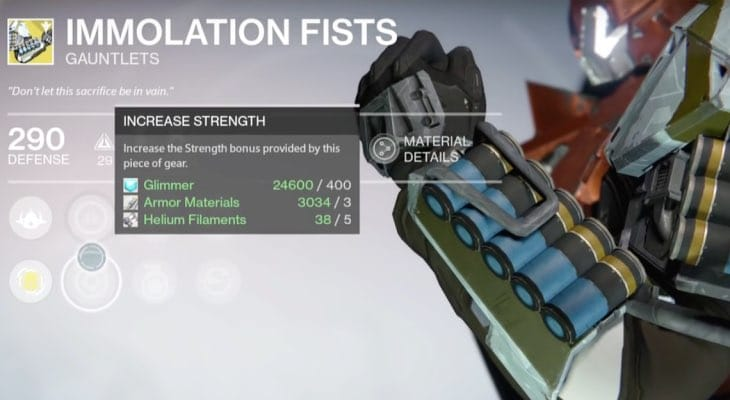 Destiny Immolation Fists Review For Hammer Of Sol Product Reviews Net