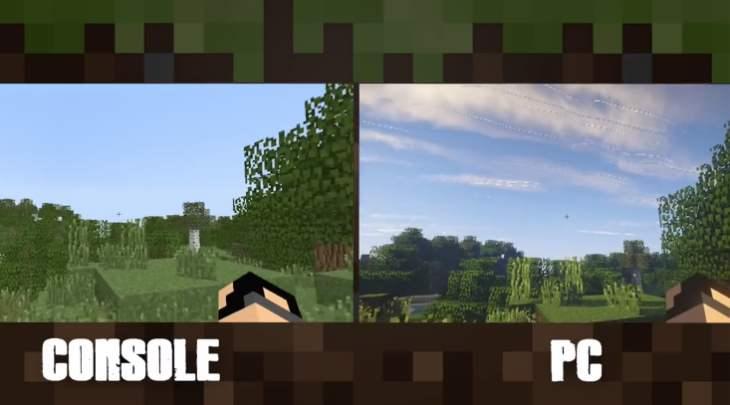 Minecraft PS4 Xbox One Vs PC Graphics Still No Contest