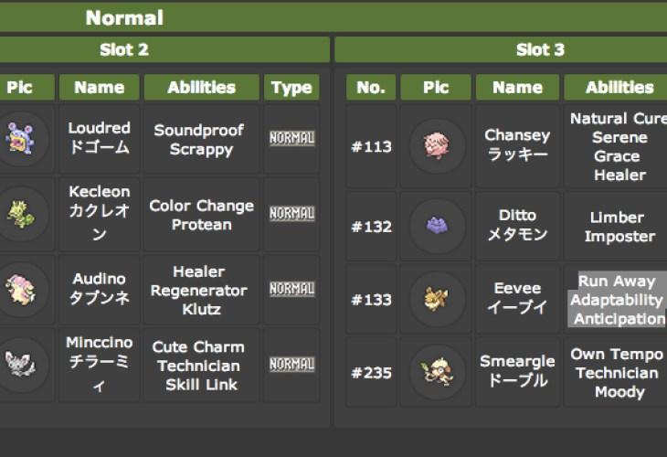 Pokemon X And Y Friend Safari Full List At Serebii