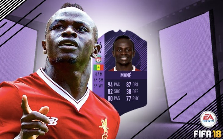 Sadio Mane Best Player On FIFA 18 After 86 Hero Card