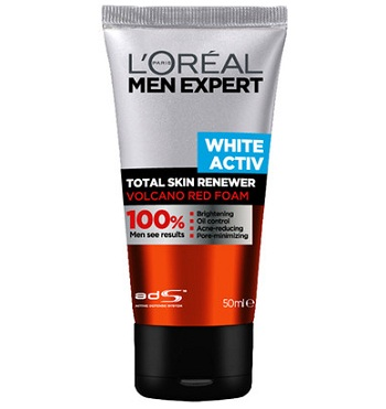 L'Oreal Paris Men Expert White Activ Volcano Red Foam Face Wash