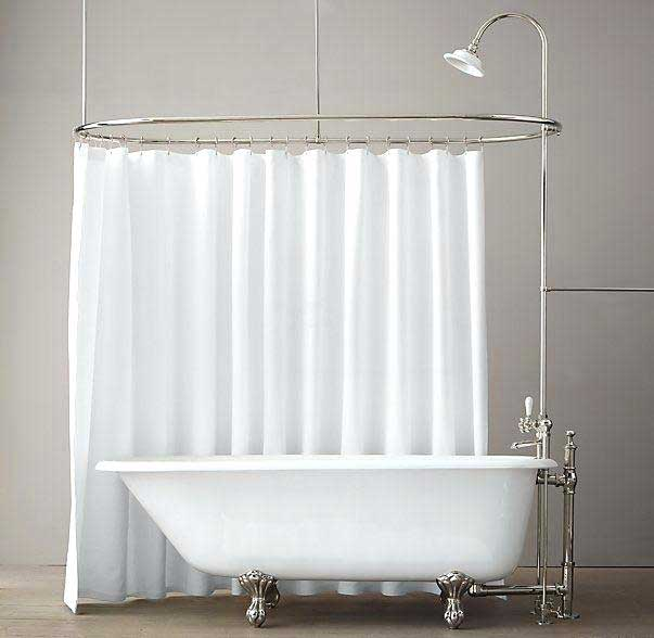 clawfoot tub shower rods