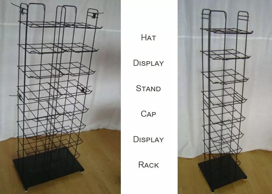 metal floor display stands