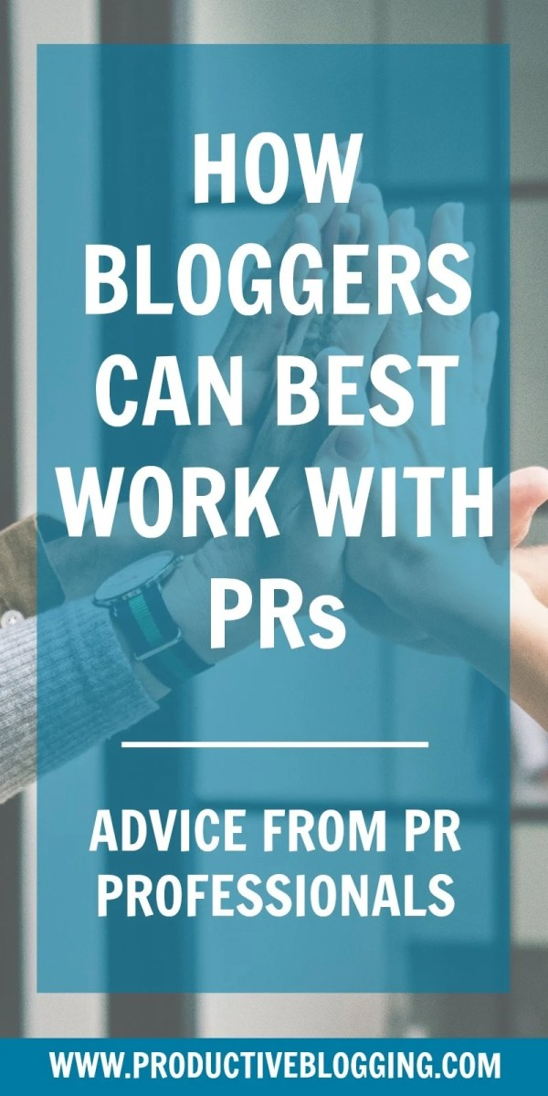 Want to work with PRs and brands on sponsored posts and collaborations? Do you wish you knew how they choose which bloggers to work with on campaigns? How to pitch? What should be in your media kit? How to negotiate the best fees? And what you should definitely NOT do? I asked 7 PR professionals how bloggers can best work with PRs and Brands. Here's what they said… #pr #comms #marketing #influencermarketing #sponsoredposts #prtips #pradvice #bloggingtips #mediakit #mediapack #productiveblogging