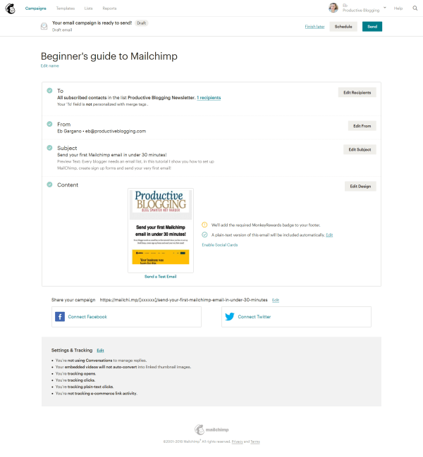 Beginner's guide to Mailchimp
