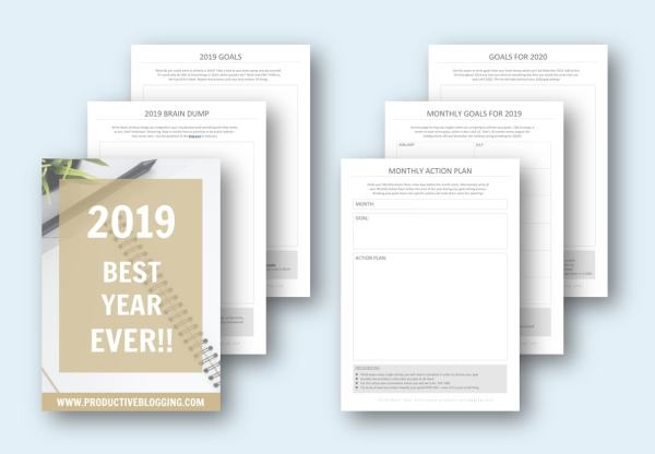 To help you get the most out of 2019 I have created a collection of FREE 2019 goal setting printables! There is a printable for each activity in my 2019 goal planning process. So hurry up and download them so you can get set to have your BEST YEAR EVER! #goals #dreams #2019 #2019goals #goalsetting #goalsetting2019 #2019dreams #newyear #newyears2019 #newyearplanning #newyeargoals #2019planning #2019planner #2019plans #blogginggoals #bloggingdreams #blogplanner #blogplanning #blogplanning2019 #blogplanner2019