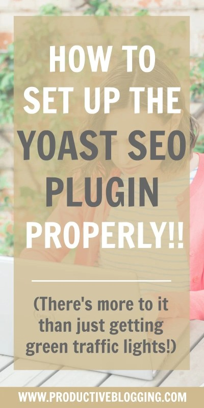 If you have a WordPress blog it's likely you have the Yoast SEO plugin – but do you have it set up properly? In this tutorial I'll show you exactly how to set up the Yoast SEO plugin so you get the maximum benefit from it. #yoast #wordpress #wordpressblog #wordpressplugins #wordpresstips #blogging #bloggingtips #seotips #seohacks #yoastseoplugin #yoastplugin #yoasttips #searchengineoptimization #growyourblog #bloggrowth #bloggrowthhacks #productiveblogging