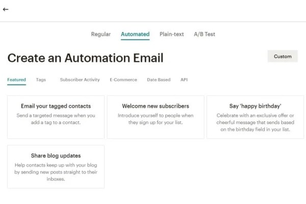 How to set up an automated email newsletter with Mailchimp