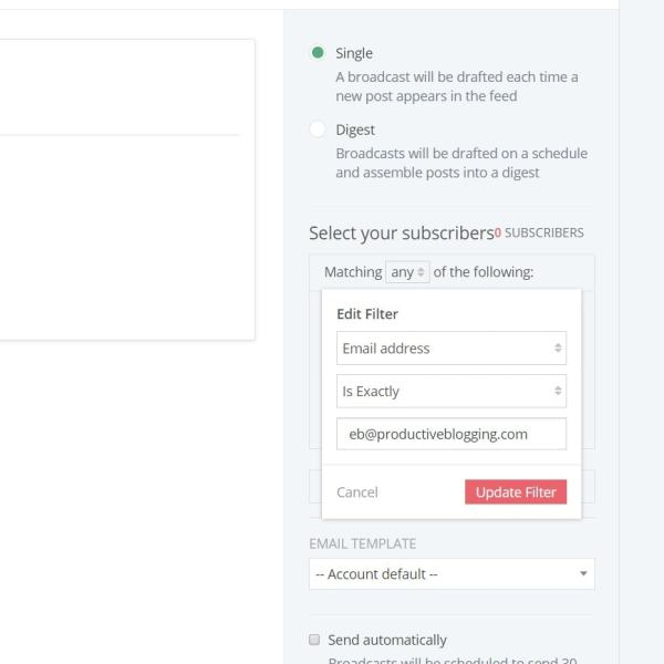 Testing a ConvertKit automated email.